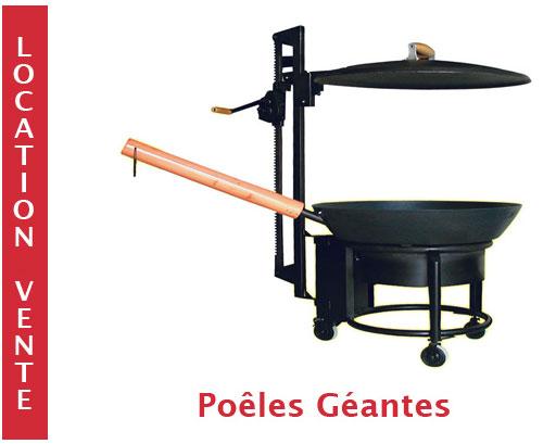 Poele geante adams location vente tartiflette geante for Location materiel cuisine